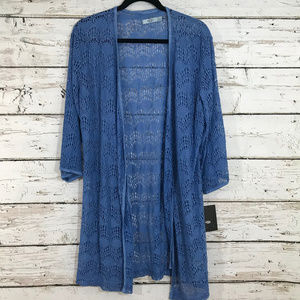 Ugg Purple Blue Knit Boho Lace Cardigan NWT
